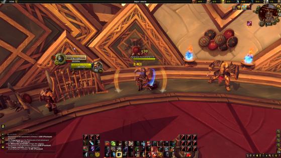 Exemple d'interface épurée (non je ne dis pas ça parce qu'il s'agit de la mienne) - World of Warcraft