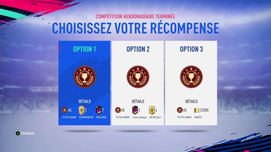 Choisissez vos récompenses - FIFA