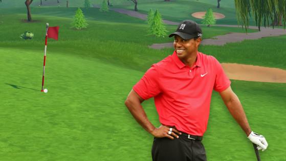 fortnite frapper une balle de golf du tee jusqu au green les trous - defi golf fortnite