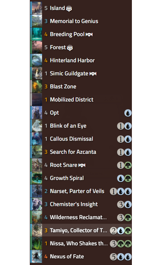 Top Decks Standard Magic Arena - Millenium