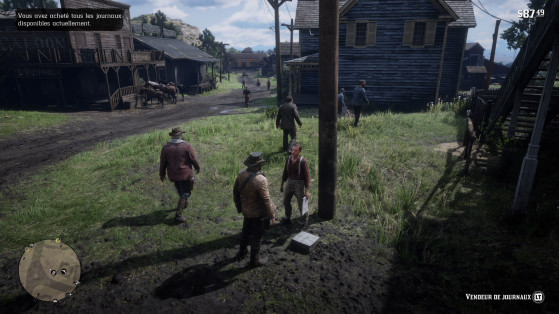 Pensez à aller voir le vendeur de journaux de temps à autres. - Red Dead Redemption 2