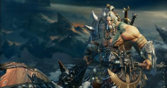 Diablo Immortal : Barbare, barbarian, classe, build, skills, équipement