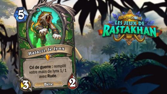 Hearthstone Jeux de Rastakhan : Halazzi, le lynx (Halazzi, the lynx)