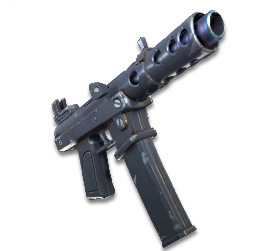 Le pistolet-mitrailleur est la première arme retirée du jeu après sa sortie officielle. - Fortnite : Battle royale