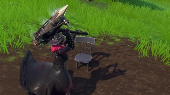 Fortnite : détruire chaise, poteau électrique et palette, défi à étapes