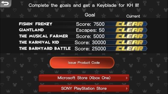 Les anciens scores à atteindre sur ces cinq mini-jeux pour débloquer la Keyblade Starlight - Kingdom Hearts 3
