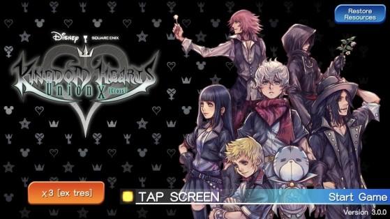 Sélectionnez X3 en bas à gauche de l'écran en orange - Kingdom Hearts 3