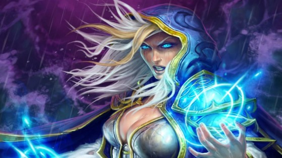 Hearthstone : portrait Jaina, patch 13.2, PEGI, poitrine