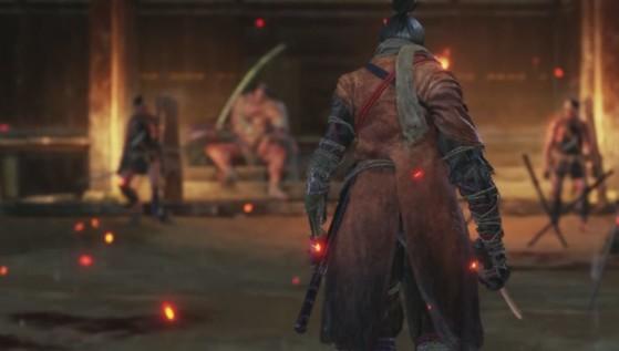 Un combat frontal n'est pas toujours la bonne solution. Fuyez et tuez les hommes de main, gardez le boss pour la fin. - Sekiro : Shadows Die Twice