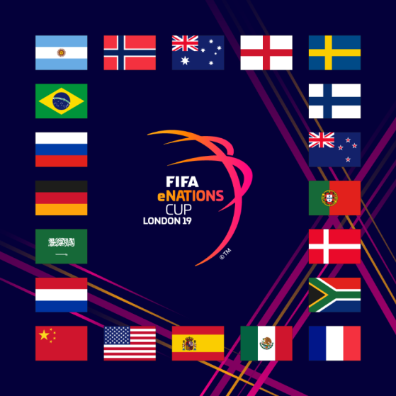 Les 20 nations sélectionnées dont la France. - FIFA