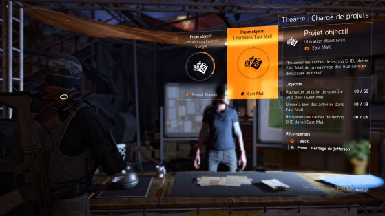 Guide The Division 2 : Projets quotidiens, hebdomadaires, refuges