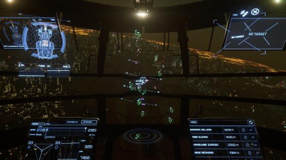 En approche du spaceport - Star Citizen