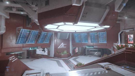 La station du Ryker Memorial Spaceport - Star Citizen