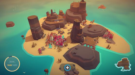 Certaines îles auront plus de zones rocailleuses que d'autres, limitant considérablement les parties exploitables. - Millenium