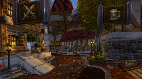 Je vous ai mis une image de la Vieille Ville parce que je sais que personne n'y fout jamais les pieds. - World of Warcraft