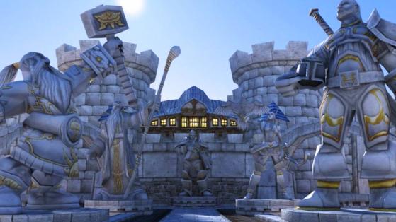 Hurlevent, c'est d'abord et surtout une architecture sobre. - World of Warcraft