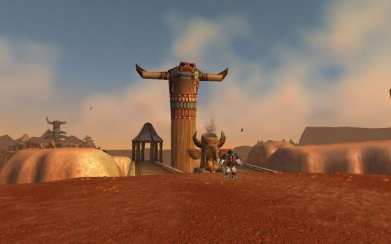 Avec le Tauren qui gardait l'ascenceur, je peux t'assurer que quand tu venais de l'Alliance, tu ne faisais pas le malin. - World of Warcraft