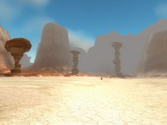 Quand tu découvres les Salines, tu te dis que logiquement, il y a bien un gnome ou un gobelin qui va établir une mine à ciel ouvert, histoire de rentabiliser l'endroit. Bah non, si on construisait plutôt un circuit de course qui ne fonctionne pas ?! - World of Warcraft