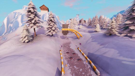 Fortnite : terminer un tour sur un circuit dans la neige, défi semaine 5