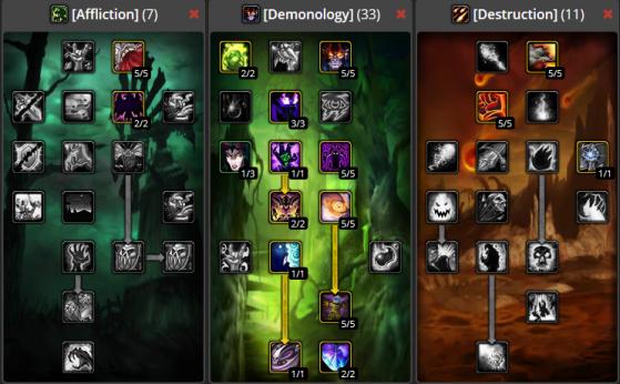 Build Sacrifice démoniaque PvP 7/33/11 - WoW : Classic