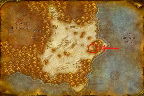 Localisation d'Anachronos à Tanaris - WoW : Classic