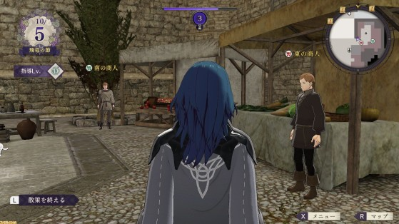 Fire Emblem Three houses : Marché, marchand, forgeron, Anna, réparations
