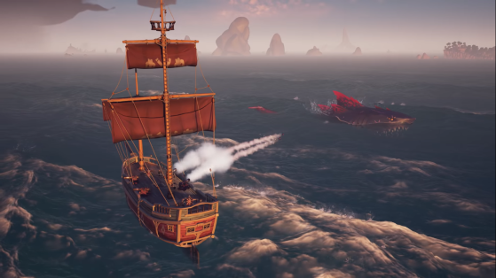 The Shadowmaw, le mégalodon rouge - Sea of thieves