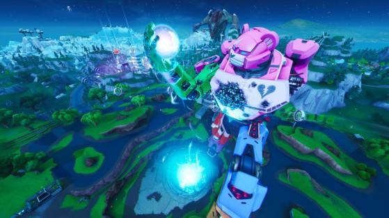 Fortnite événement Robot Monstre Mécha Fin De Saison 9