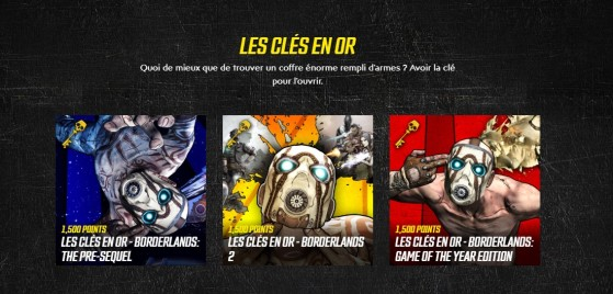 Des clés en or ! - Borderlands 3