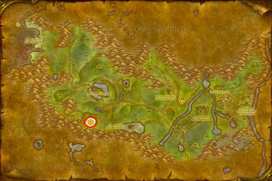 Localisation des Ruines de Chimétoile - WoW : Classic