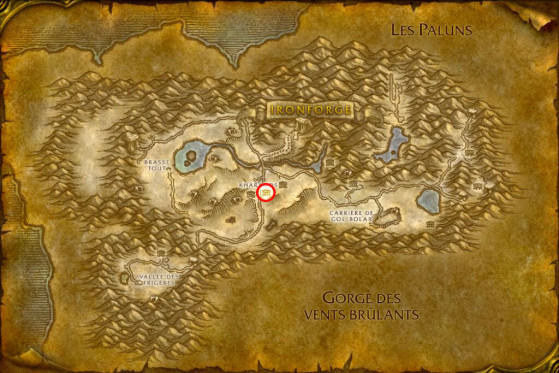 Localisation de Granis Swiftaxe - WoW : Classic