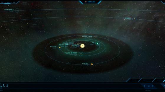 Kellog et ses astres dans la Starmap - Star Citizen