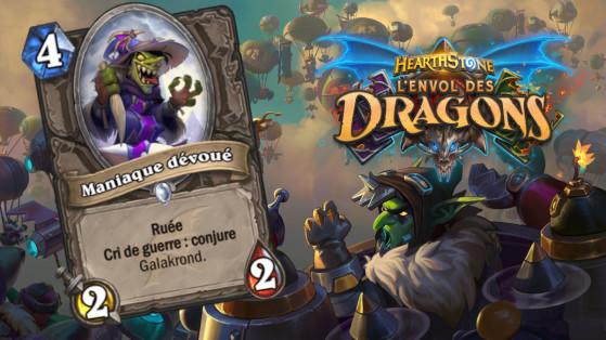 Hearthstone Envol des Dragons : nouveau serviteur commun Neutre Maniaque dévoué
