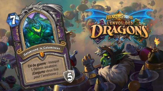 Hearthstone Envol des Dragons : nouveau héros légendaire Démoniste Galakrond, le Calamiteux