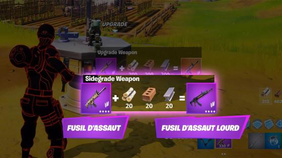 Fortnite : Changez d'arme grâce à l'établi d'amélioration et l'échange équivalent
