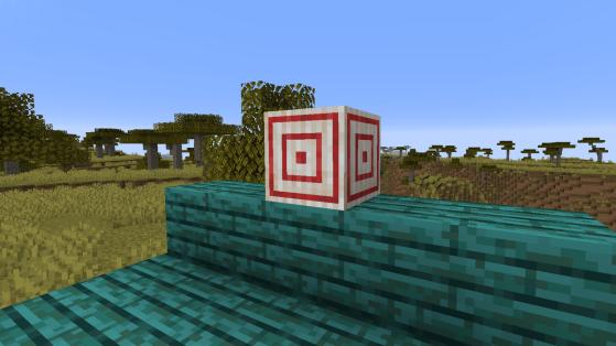 Minecraft : Target Block, cible craft, mécaniques, redstone