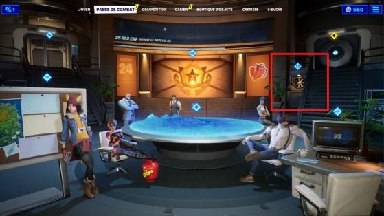 Cliquez sur le conduit d'aération pour vous rendre dans le QG - Fortnite : Battle royale