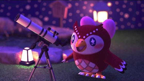 Animal Crossing New Horizons : Céleste et sa liste d'objets