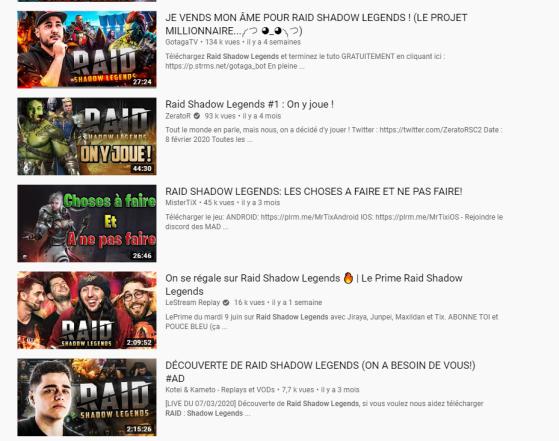 Les vidéos promotionnelles sur YouTube ne manquent pas - Millenium