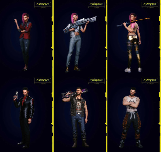 Styles vestimentaires : Corpo / Nomad / Street Kid - Cyberpunk 2077