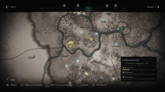 Offchurch : position sur la carte - Assassin's Creed Valhalla