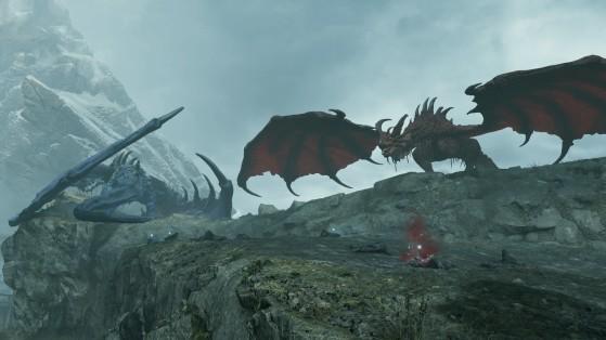 Les boss Dragons Rouge et Bleu - Demon's Souls