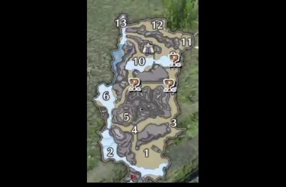 Carte de la zone aperçue durant le TGS - Monster Hunter Rise