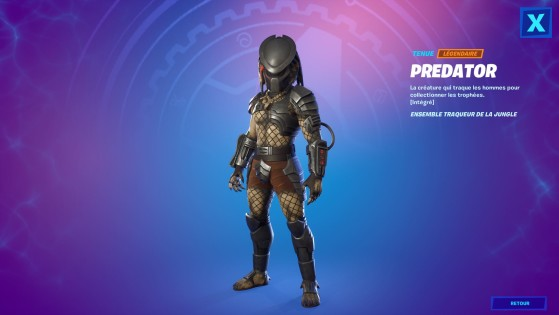 Tenue Predator - Fortnite : Battle royale