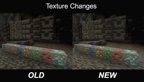 Changements de texture des minerais et de la Blackstone - Minecraft