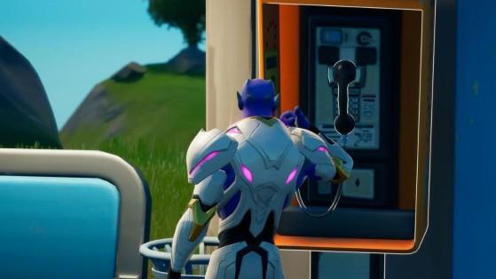 Fortnite : accepter une quête dans une cabine téléphonique, défi saison 7