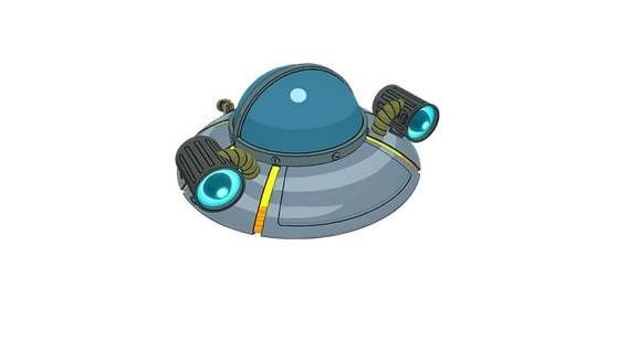 Vaisseau Spatial de Rick (planeur) - Fortnite : Battle royale