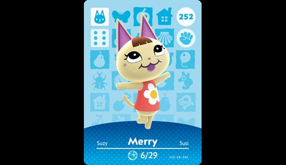 Carte Amiibo de Suzy - Animal Crossing New Horizons