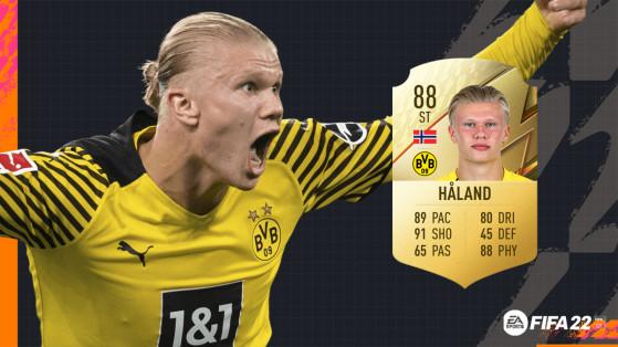 FIFA 22 - Les notes de Dortmund avec le Cyborg Haaland à 88  sur FUT !