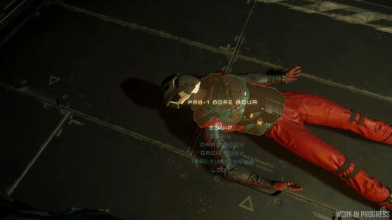 Fouille de cadavre - Star Citizen